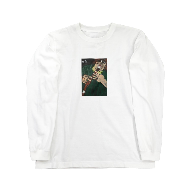 shibatayuuの自画像 Long sleeve T-shirts