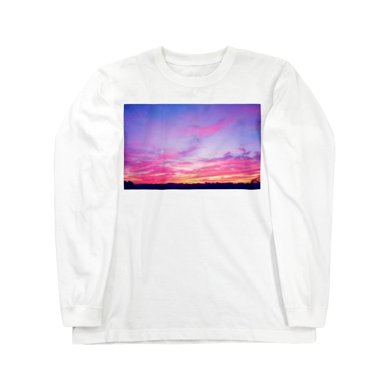 DOLUXCHIC RAYLOのPink Sunset sky Long sleeve T-shirts