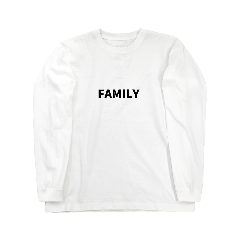 FAMILY SHOPのFAMILY(黒文字) Long sleeve T-shirts