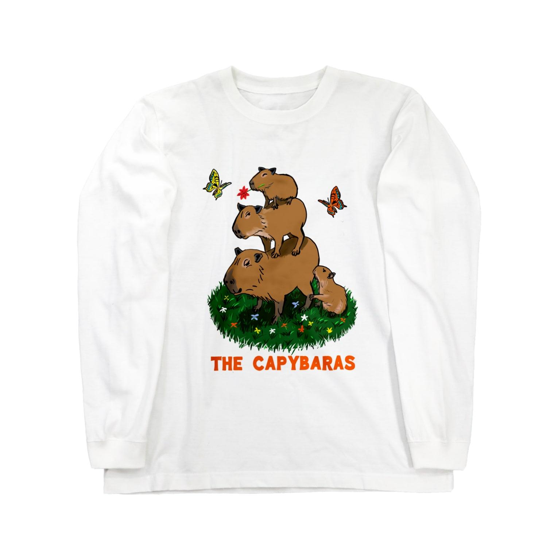 令和堂のthe capybaras Long sleeve T-shirts