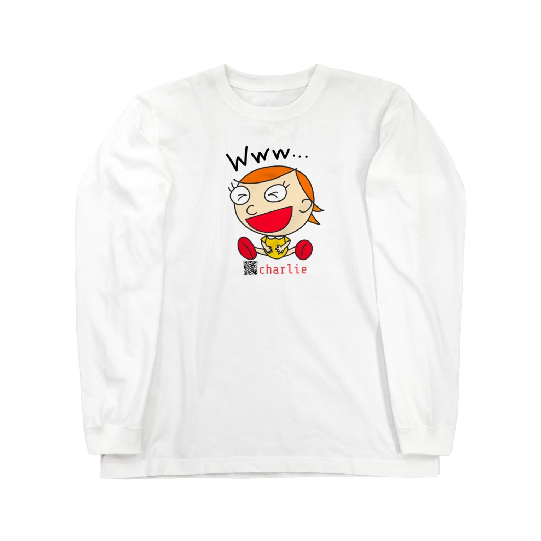 charlolのwww charlie QR Long sleeve T-shirts