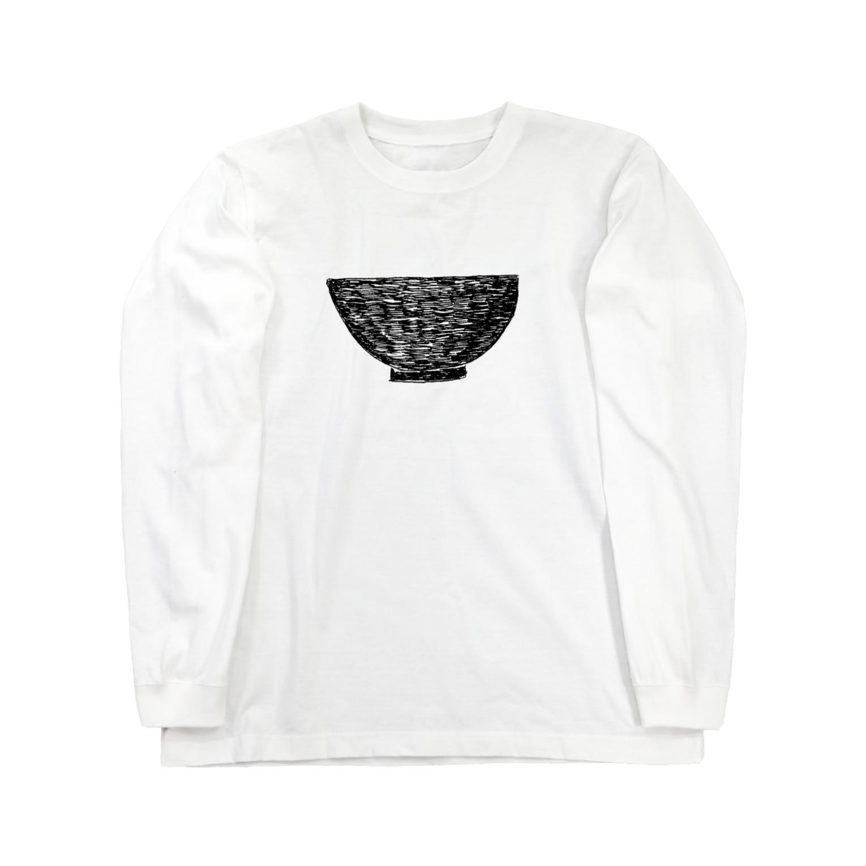 NIKORASU GOの丼 Long sleeve T-shirts