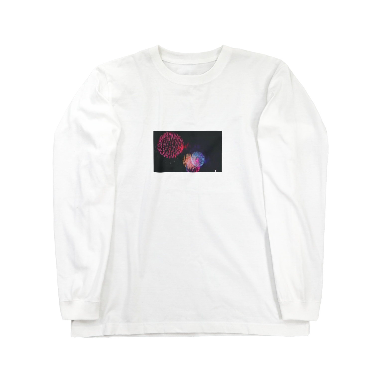 ぷぐのブレブレ花火 Long sleeve T-shirts