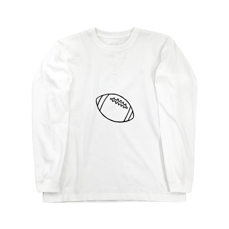 yt731024のラグビーボール Long sleeve T-shirts
