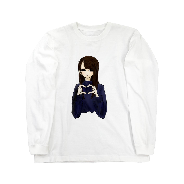 hona_channnnの女の子 ハート Long sleeve T-shirts