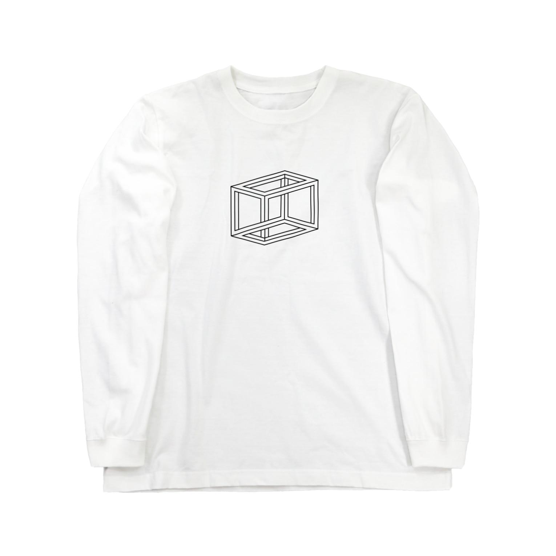 AmberToneのトリックアート Long sleeve T-shirts