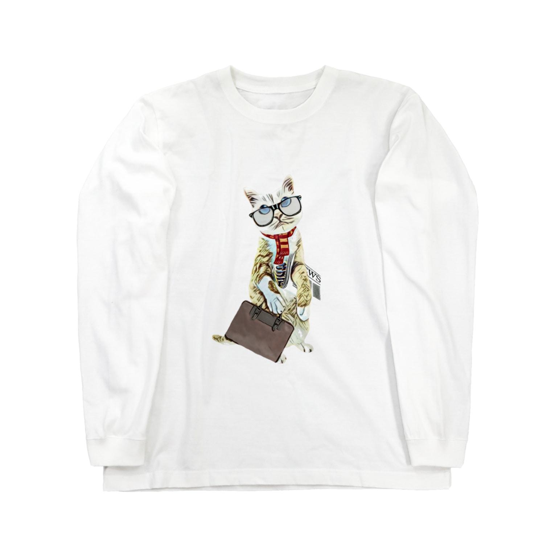 Rock catのサラリーキャット Long sleeve T-shirts