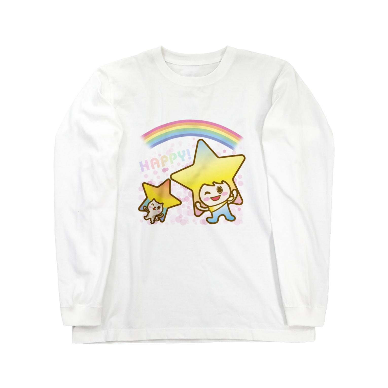 alpacca-creativeのステラちゃん☆【HAPPY!】 Long sleeve T-shirts