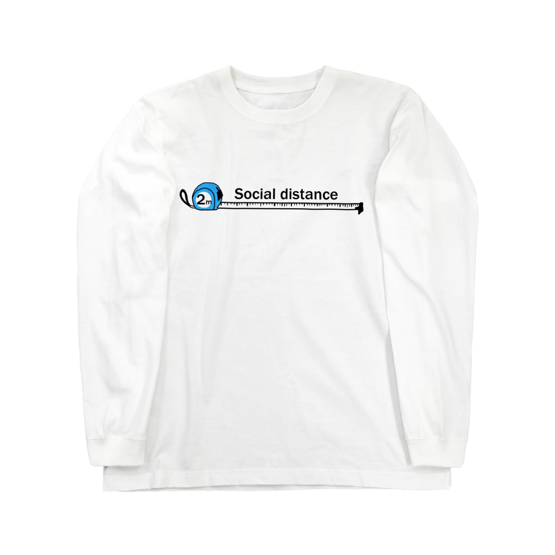 danyoのSocial distance3 Long sleeve T-shirts