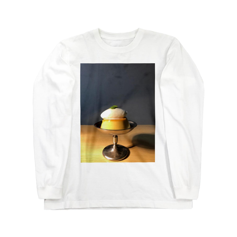 omochidesuneのガチプリン Long sleeve T-shirts