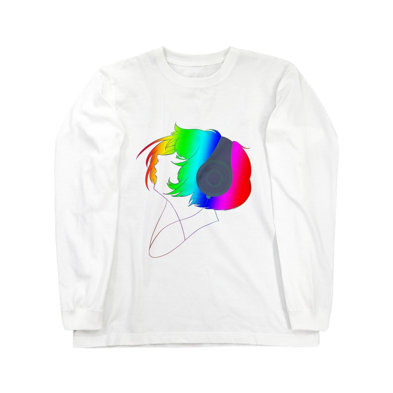 かにぱん工房のmusic Long sleeve T-shirts