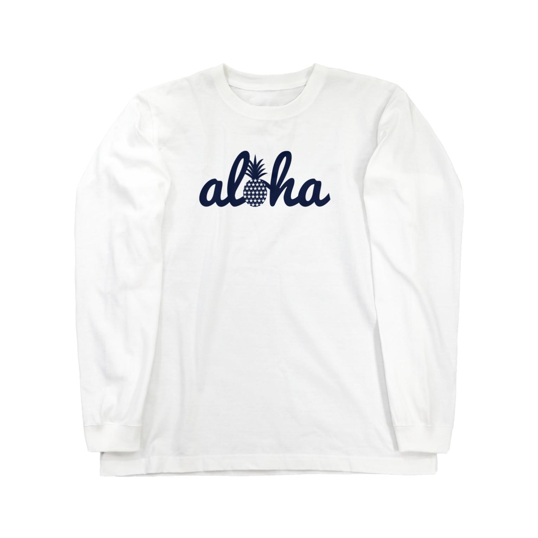 aloha_pineapple_hawaiiのアロハグッズ 18(star) Long sleeve T-shirts