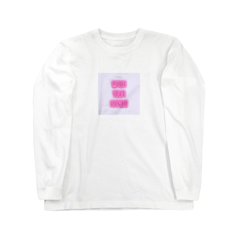 Mofkisses  🍮の手を洗おう  Long sleeve T-shirts