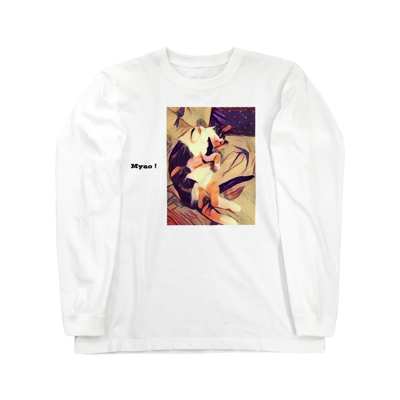HesseのMYAO! Long sleeve T-shirts