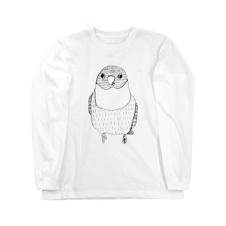 Pev1/4のボタンインコ Long sleeve T-shirts