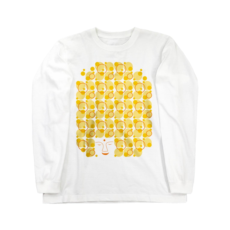 irodoruhanaの大仏(縦) Long sleeve T-shirts
