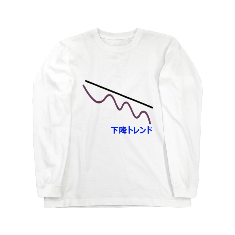 musclerのローソク足(下降) Long sleeve T-shirts