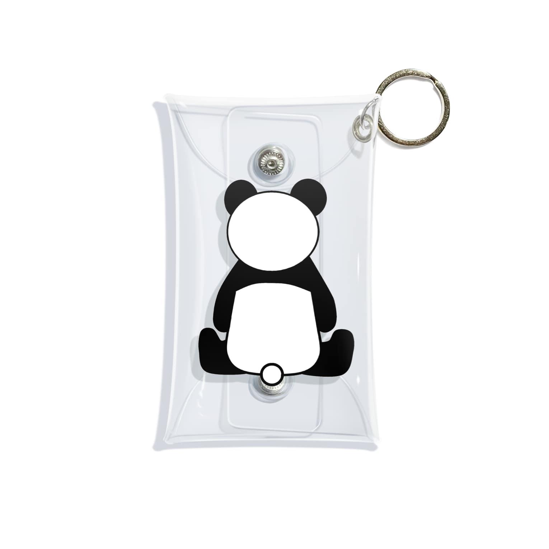まるまるあにまるズのパンダさんの後ろ姿 Mini Clear Multipurpose Case