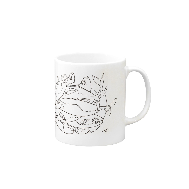 megumiillustrationのAJI マグカップ
