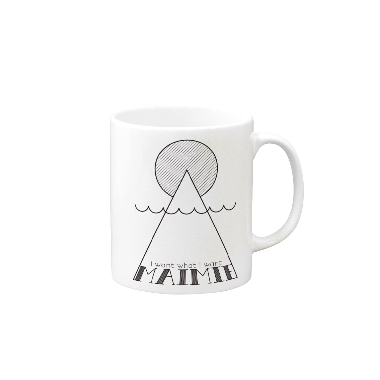 maimie WEB SHOPのmaimieハレの日(黒ロゴ) Mugs