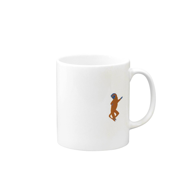 reecoのおさんぽ(さる) Mugs