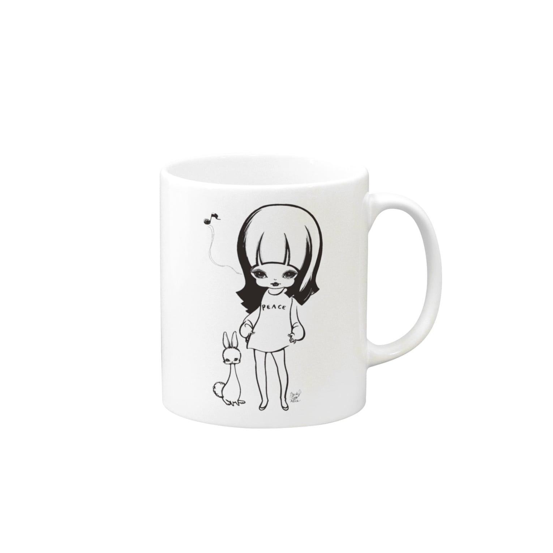 ShikaniwaSandyJidoS.AliceO.S.のpeace マグカップ