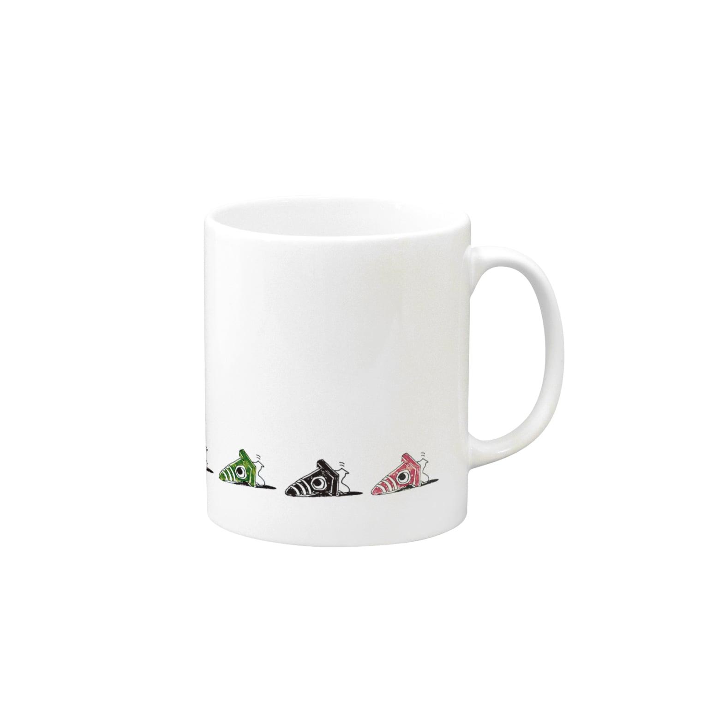 敷島の倒れたコーンちゃん もっとカラフル Mugs