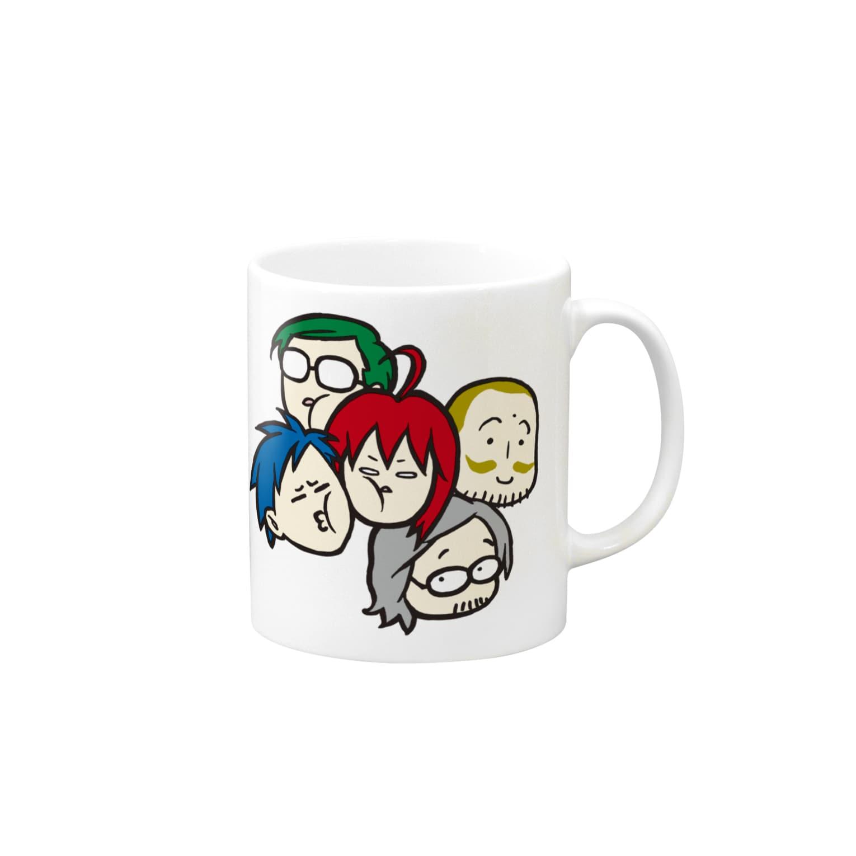駄菓子菓子の駄マグ【みっちり】 Mugs