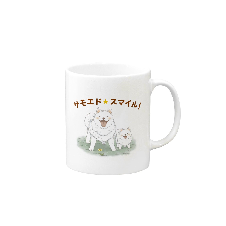 noharanoharaのサモエド★スマイル! Mugs