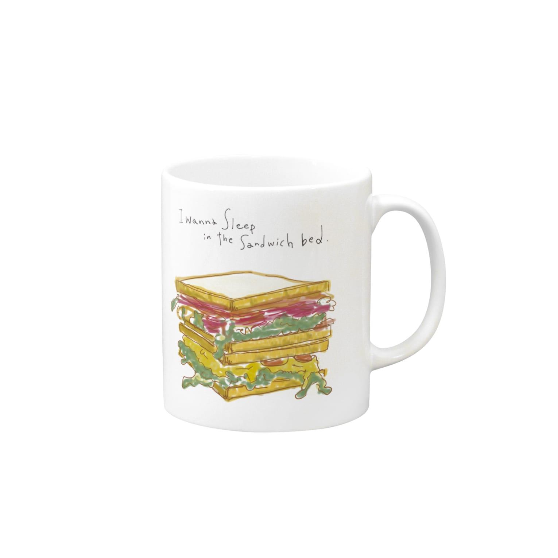 aiponのサンドイッチのイラスト Mugs
