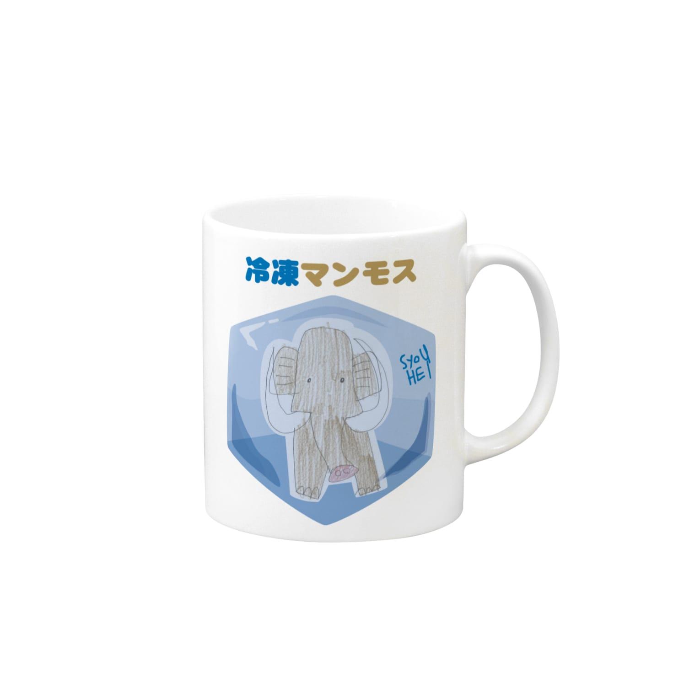 ★いろえんぴつ★の冷凍マンモス マグカップ