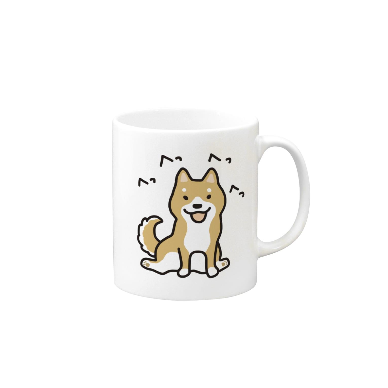 こぐま犬てんすけグッズショップの柴犬横座り Mugs