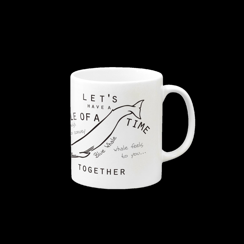 クジラのマグカップ屋さん。プラスのシロナガスクジラのマグカップマグカップ