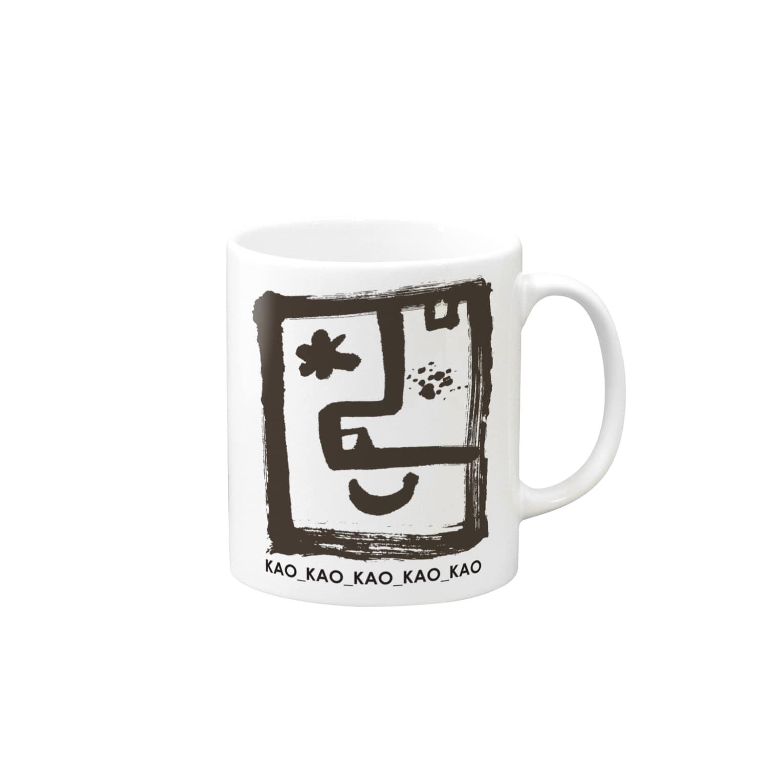 〈サチコヤマサキ〉ショップのKAOロゴ黒 Mugs