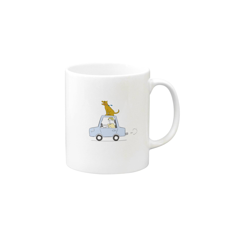 s_uppo_nのぼくと犬と車 Mugs