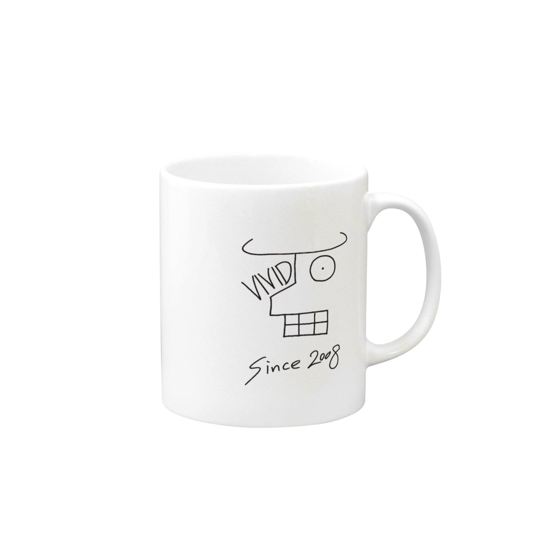 VividCafeのVividCafeロゴ黒 Mugs