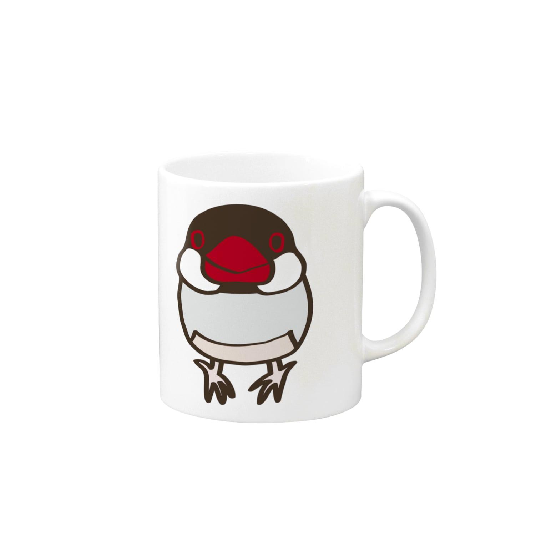 文鳥堂のノーマル文鳥2 マグカップ