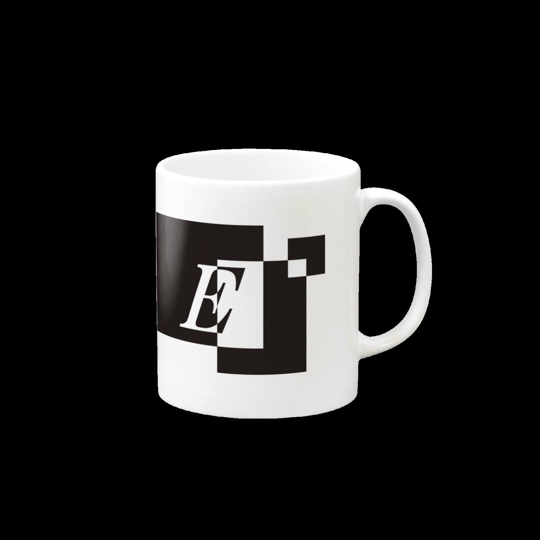シンプルデザイン:Tシャツ・パーカー・スマートフォンケース・トートバッグ・マグカップのシンプルデザインアルファベットEマグカップ