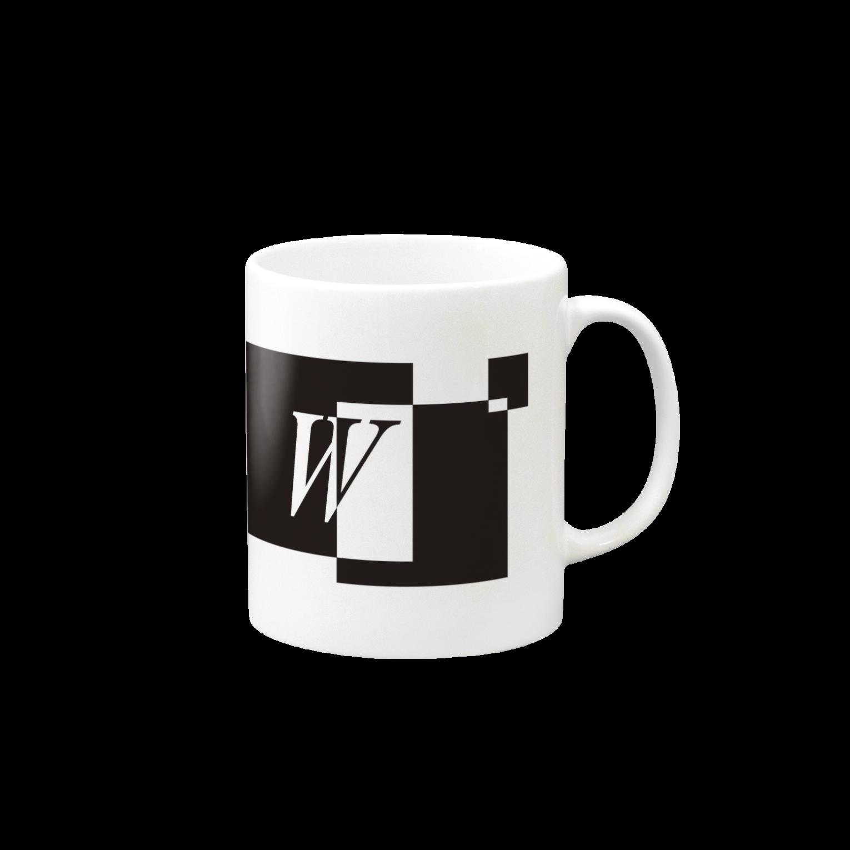 シンプルデザインアルファベットW マグカップ