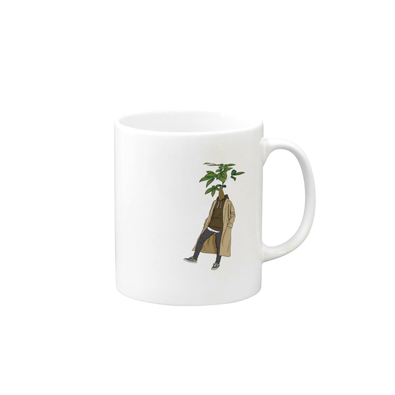 creat_tonakaiの植物人間 パキラ Mugs