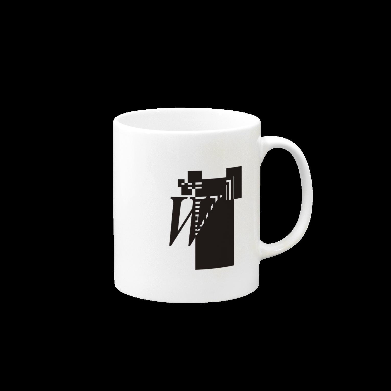 シンプルデザインアルファベットWワンポイント マグカップ