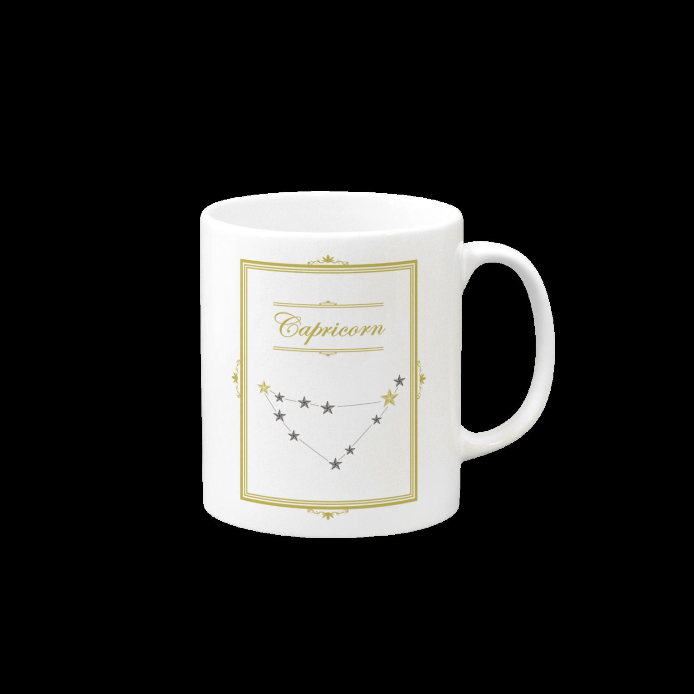 tomokomiyagamiのスタースタッズ星座 山羊座マグカップ
