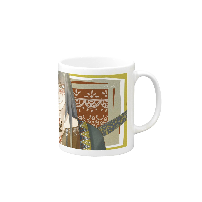 襟本襟香の柄 Mugs