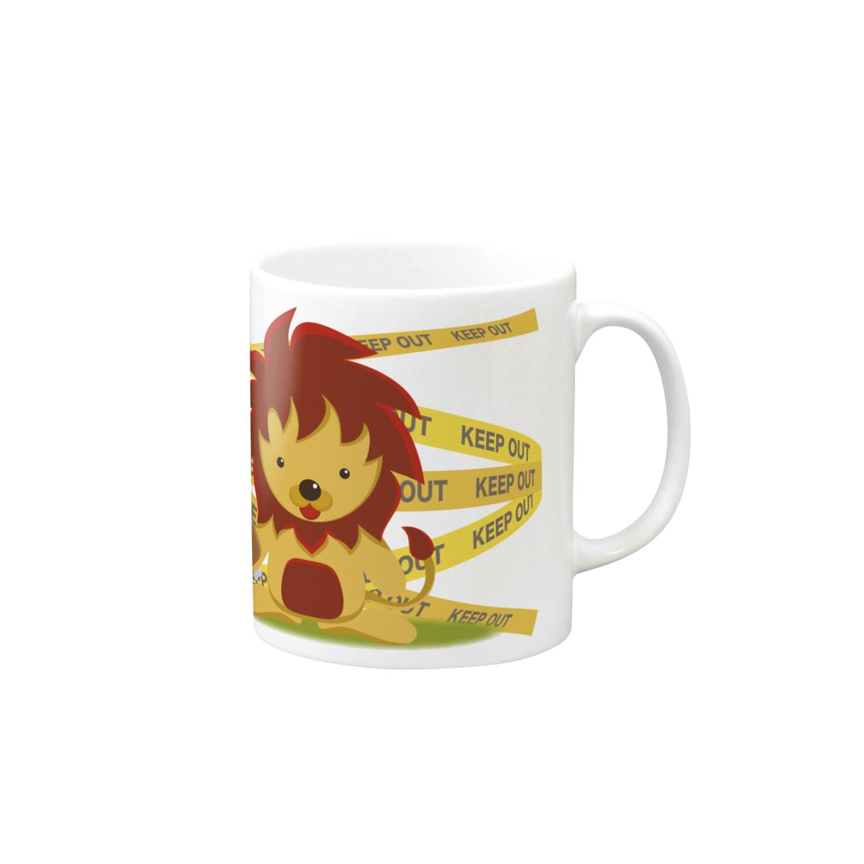 AURA_HYSTERICAのふさふさライオン Mugs