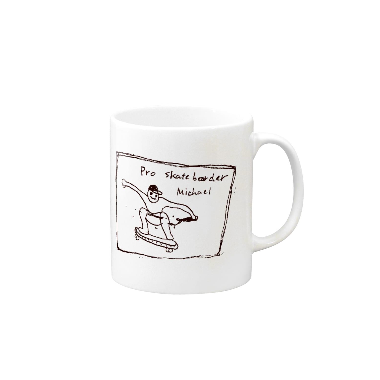 Kohei Takeda illustrationsのマイケル Mugs