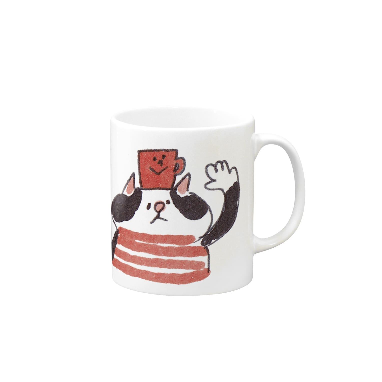 ゆきんこのねことマグカップ Mugs
