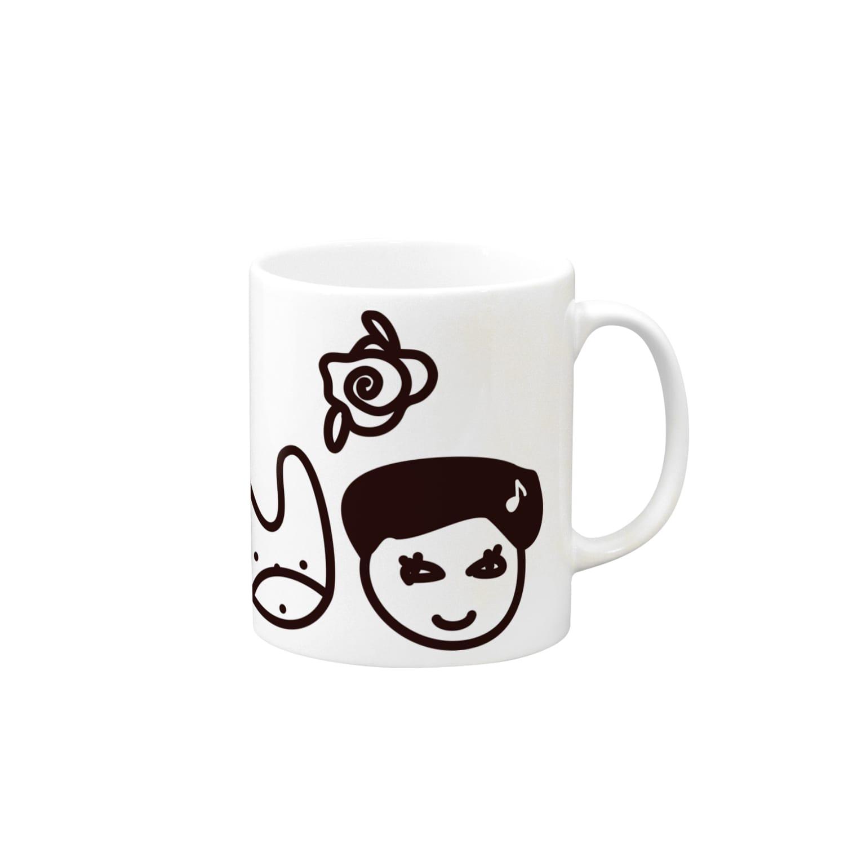 Kekyo & Yoritan RECORDSのKekyo & Yoritan RECORDS -Logo マグカップ