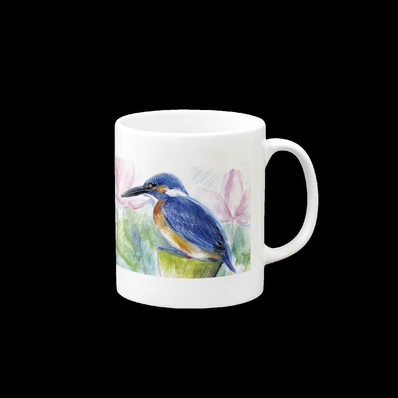リラのカワセミマグカップ