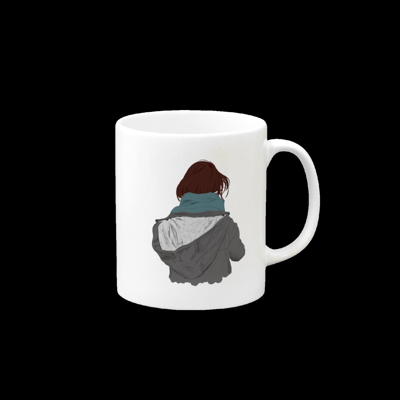 北極の後ろ姿マグカップ