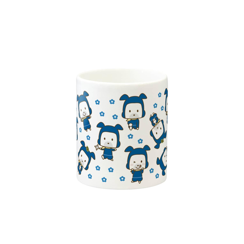 HAPPYDOG製作所@SUZURI支店のHAPPY DOG WORKS 忍者_模様A マグカップ